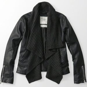 NWT Abercrombie & Fitch  Black Jacket Sweater
